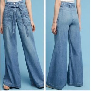 Pilcro & The Letterpress Ultra High Waist Tie Jean